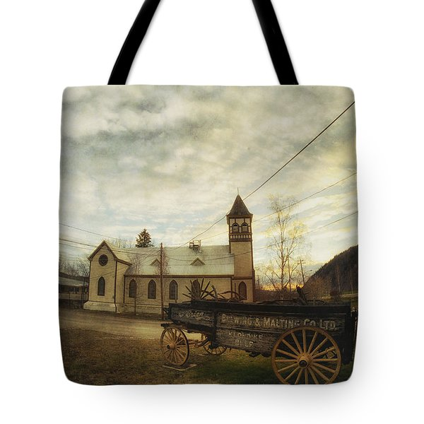St. Pauls Anglican Church With Wagon  Tote Bag by Priska Wettstein
