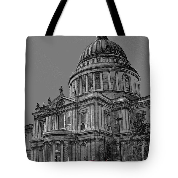St Paul's Cathedral London Art Tote Bag by David Pyatt