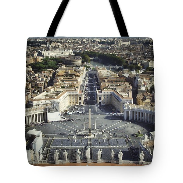 St Peter's Square Tote Bag by Joan Carroll