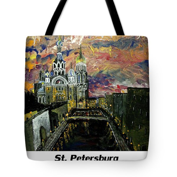 St  Petersburg Tote Bag by Mark Moore