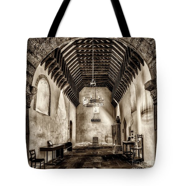 St Seirio Church Tote Bag by Adrian Evans