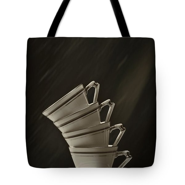 Stack Of Cups Tote Bag by Amanda And Christopher Elwell