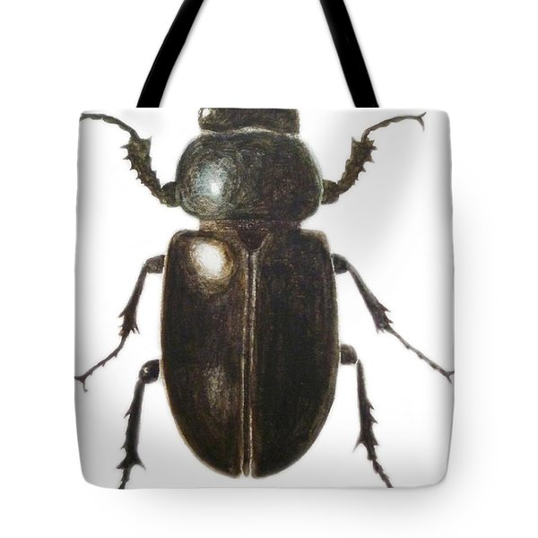 Stag Beetle Tote Bag by Ele Grafton