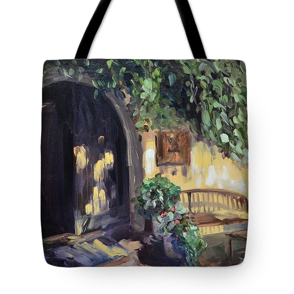 Stags Leap Wine Cellars Tasting Room Tote Bag by Donna Tuten