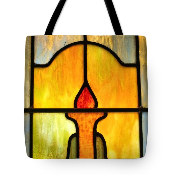 Stained Glass 7 Tote Bag by Tom Druin