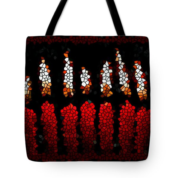 Stained Glass Candle Tote Bag by Lanjee Chee