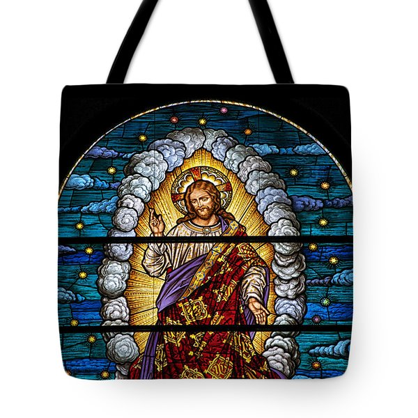 Stained Glass Pc 03 Tote Bag by Thomas Woolworth