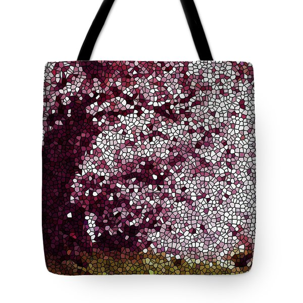 Stained Glass  Sakura Tree Tote Bag by Lanjee Chee
