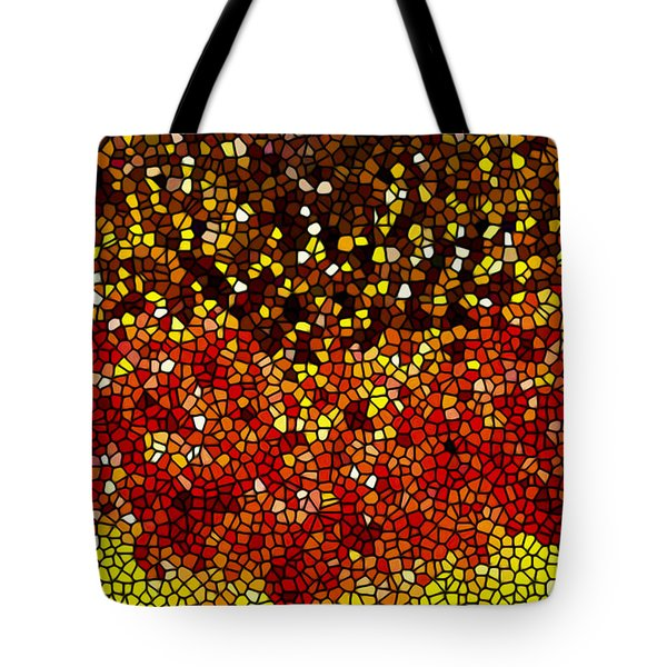 Stained Glass Sunflower Closeup Tote Bag by Lanjee Chee