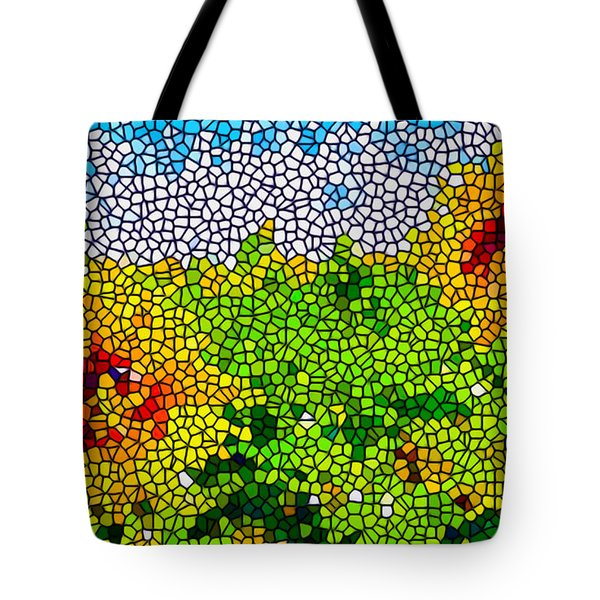 Stained Glass Sunflowers Tote Bag by Lanjee Chee