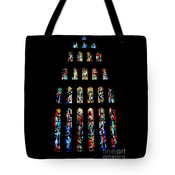 Stained Glass Windows at Basilica of the Annunciation Tote Bag by Eva Kaufman