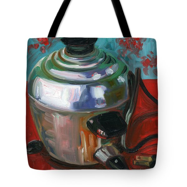 Stainless Steel Cooker of Eggs Tote Bag by Jennie Traill Schaeffer