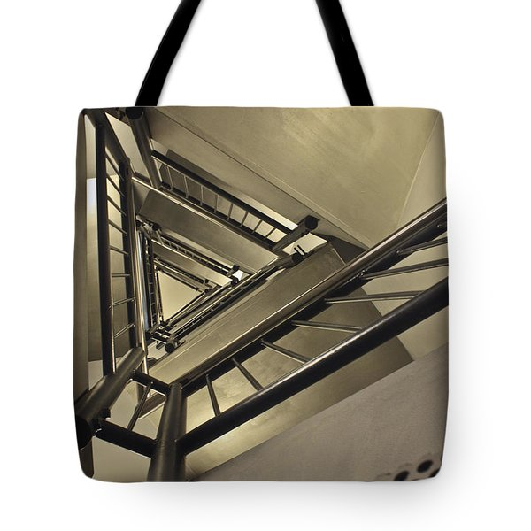 Stairing Up The Spinnaker Tower Tote Bag by Terri  Waters