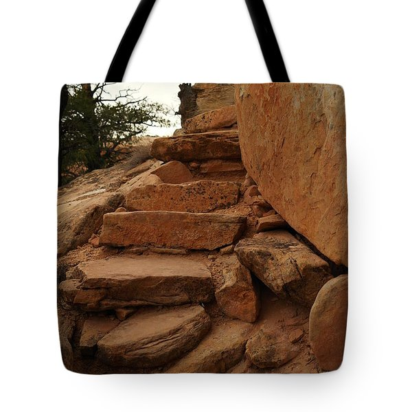 Stairs In The Desert Tote Bag by Jeff Swan