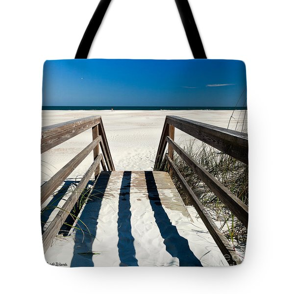 Stairway to Happiness and Possibilities Tote Bag by Michelle Wiarda