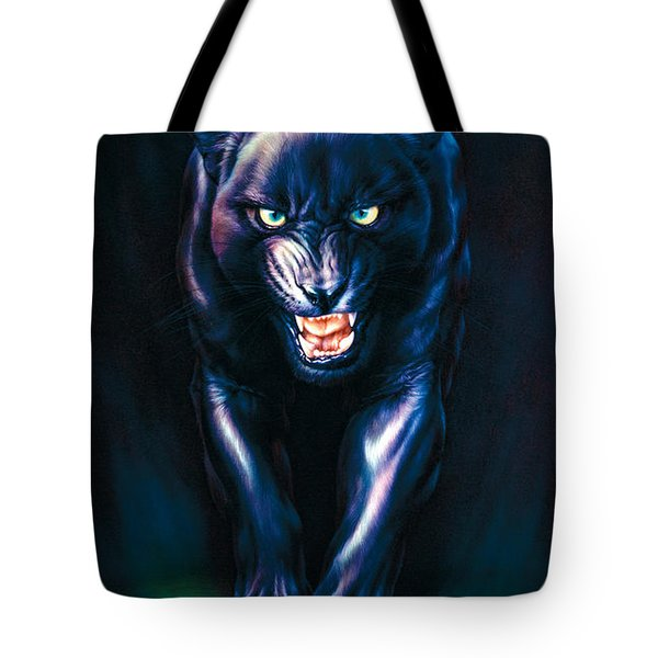 Stalking Panther Tote Bag by Andrew Farley