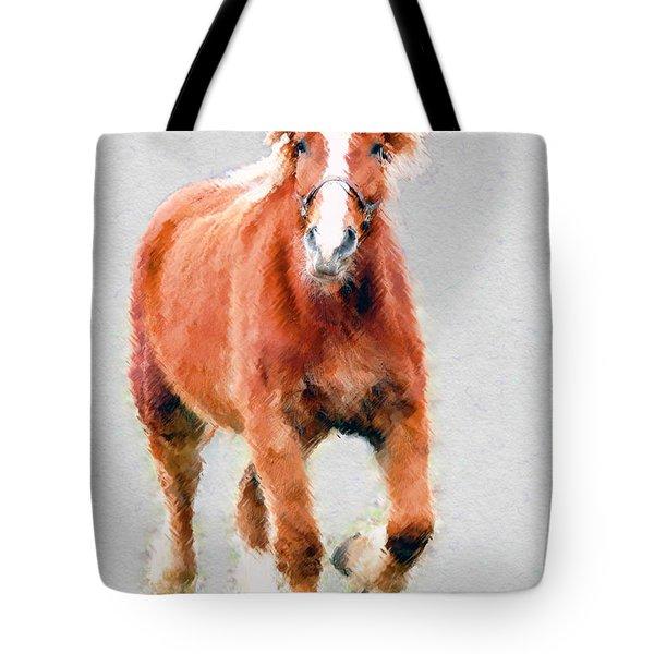 Stallion Portrait Tote Bag by Dan Friend