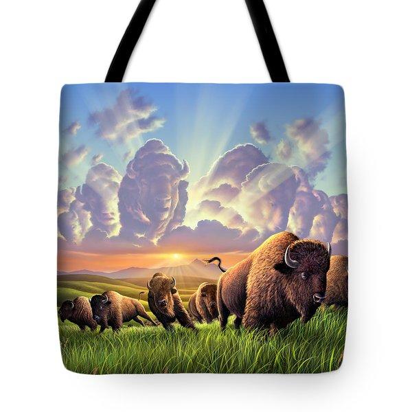Stampede Tote Bag by Jerry LoFaro