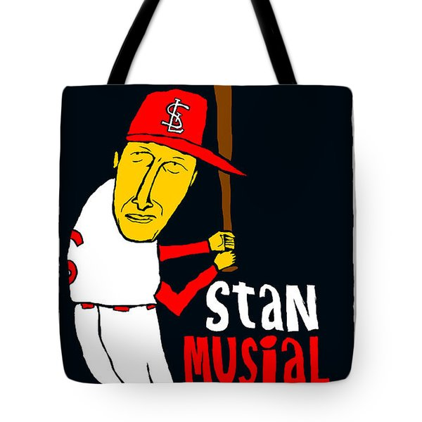 Stan Musial St Louis Cardinals Tote Bag by Jay Perkins
