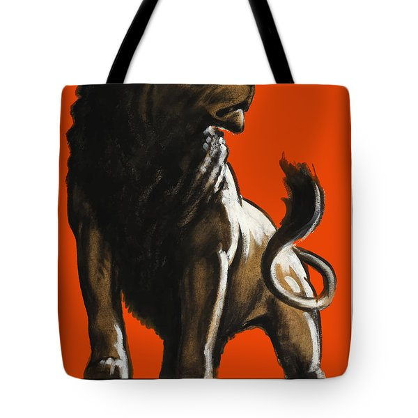 Stand Firm Lion Tote Bag by War Is Hell Store