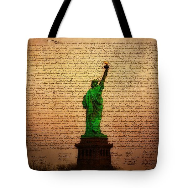Stand Up for Freedom Tote Bag by Bill Cannon