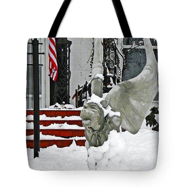 Standing Watch Tote Bag by Chris Berry