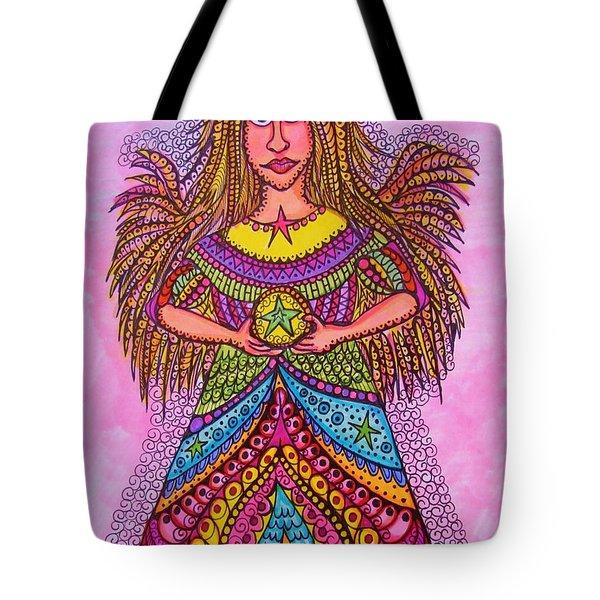 Star Angel Tote Bag by Gerri Rowan