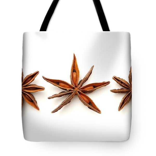 Star anise fruits Tote Bag by Fabrizio Troiani