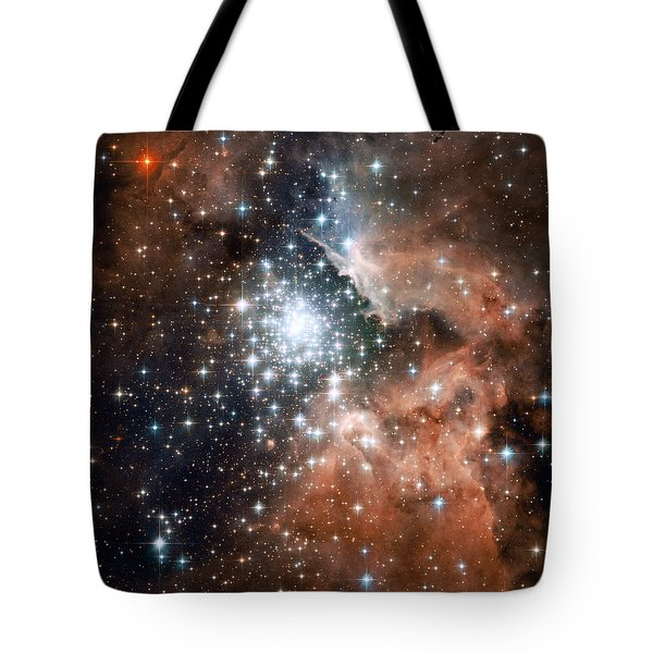 Star Cluster And Nebula Tote Bag by Sebastian Musial