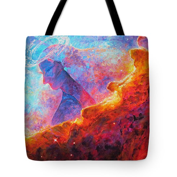 Star Dust Angel Tote Bag by Julie Turner