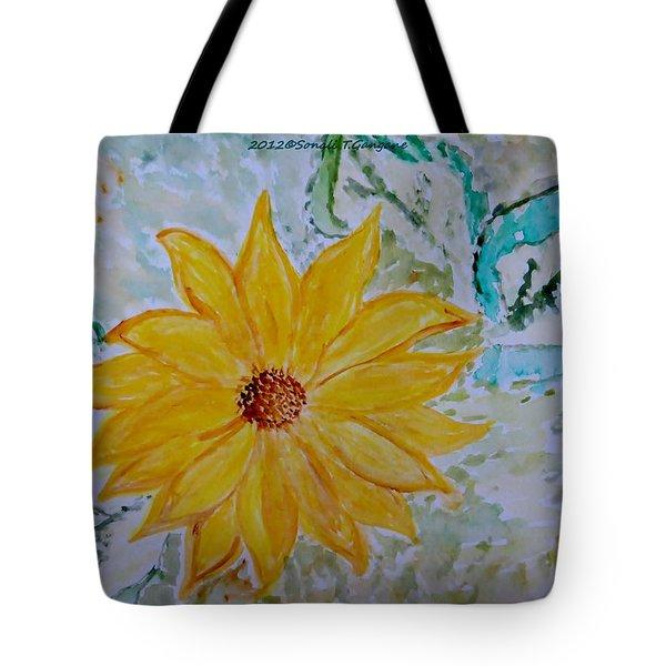 Star Flower Tote Bag by Sonali Gangane