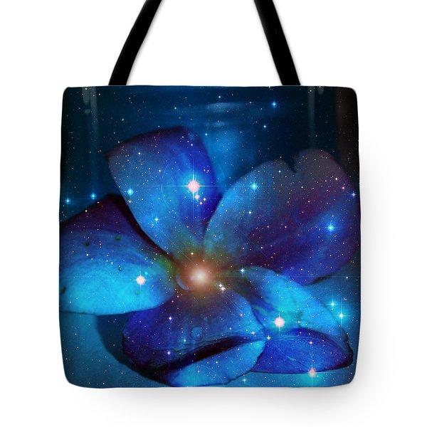 Star Light Plumeria Tote Bag by Linda Sannuti