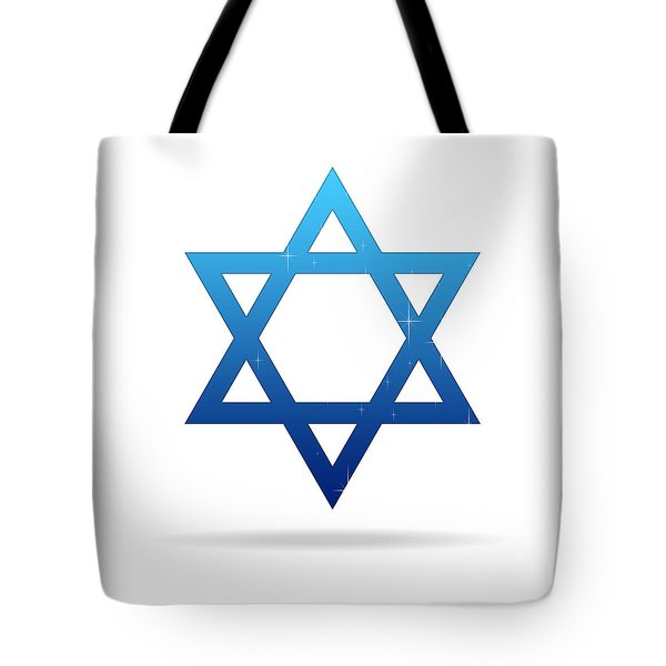 Star Of David Tote Bag by Aged Pixel
