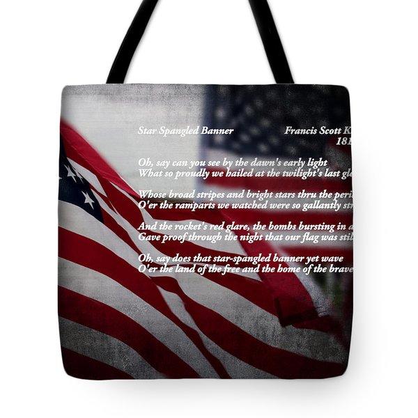 Star Spangled Banner  Tote Bag by Ella Kaye Dickey