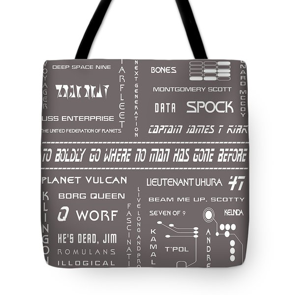 Star Trek Remembered In Grey Tote Bag by Nomad Art And  Design