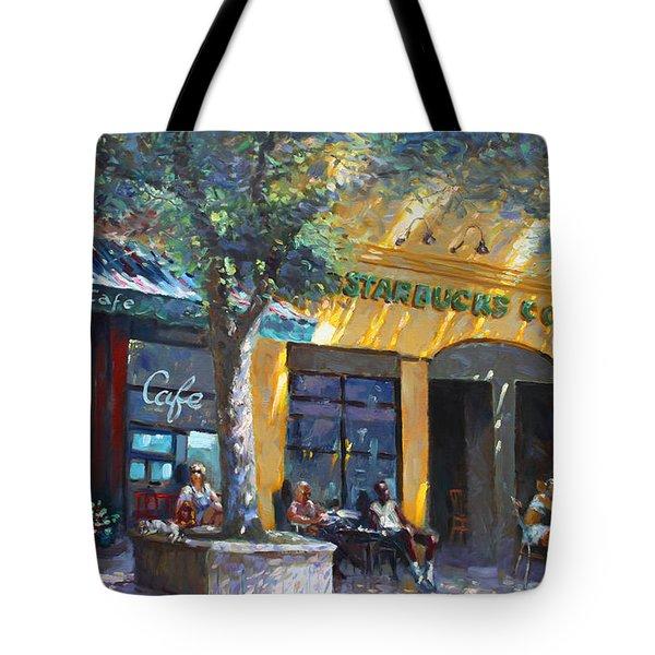 Starbucks Hangout Nyack Ny Tote Bag by Ylli Haruni