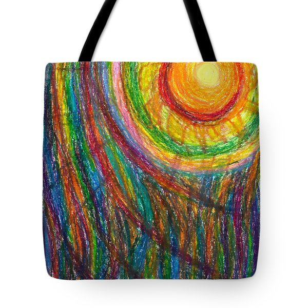 Starburst - The Nebular Dawning of a New Myth and a New Age Tote Bag by Daina White