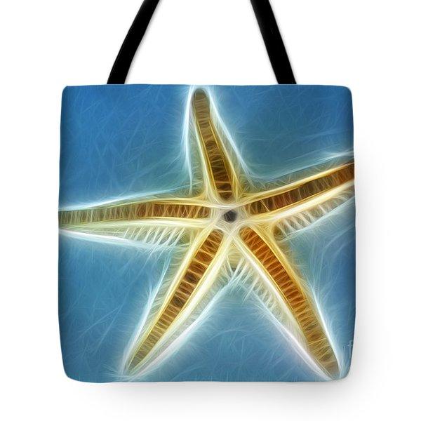 Starfish Art Tote Bag by Kaye Menner