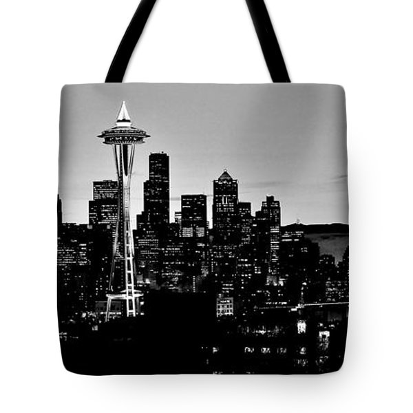 Stark Seattle Skyline Tote Bag by Benjamin Yeager