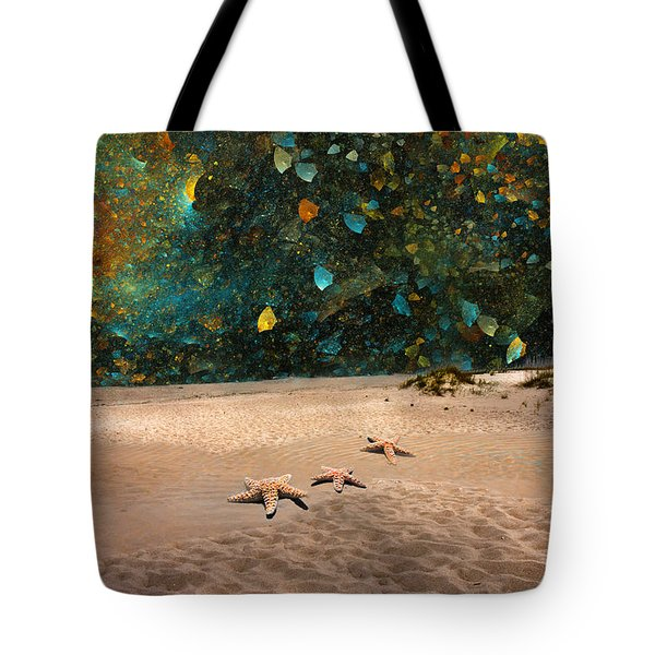 Starry Beach Night Tote Bag by Betsy A  Cutler