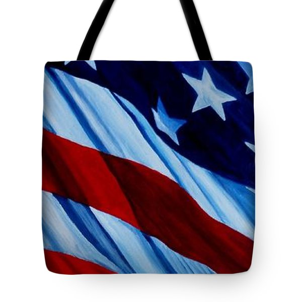 STARS and BARS Tote Bag by Julie Brugh Riffey