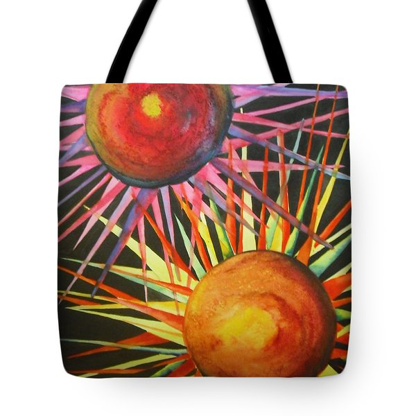 Stars With Colors Tote Bag by Chrisann Ellis