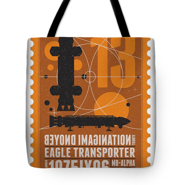 Starschips 13-poststamp - Space 1999 Tote Bag by Chungkong Art