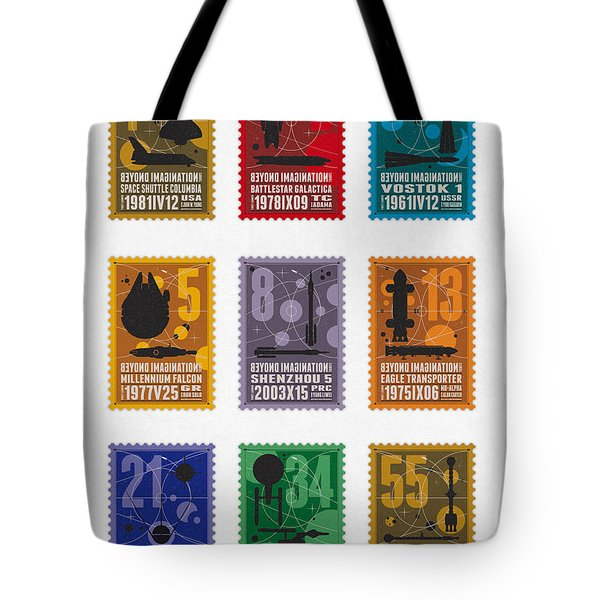 Starships 00 - Overview Tote Bag by Chungkong Art