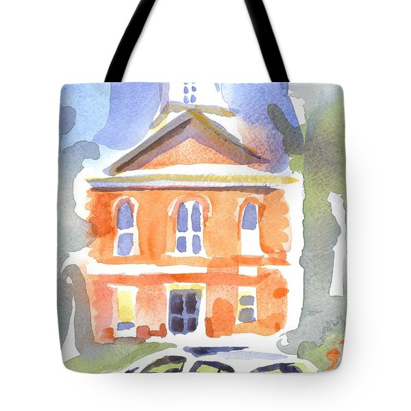 Stately Courthouse With Police Car Tote Bag by Kip DeVore