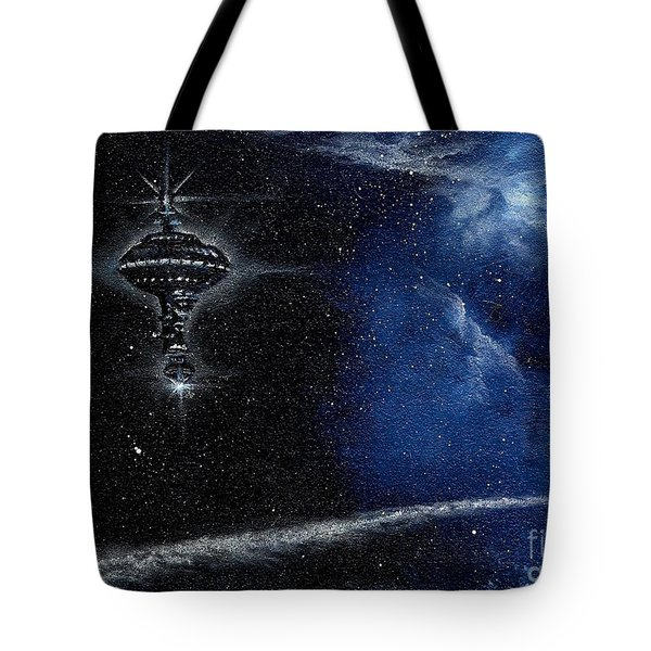 Station In The Stars Tote Bag by Murphy Elliott