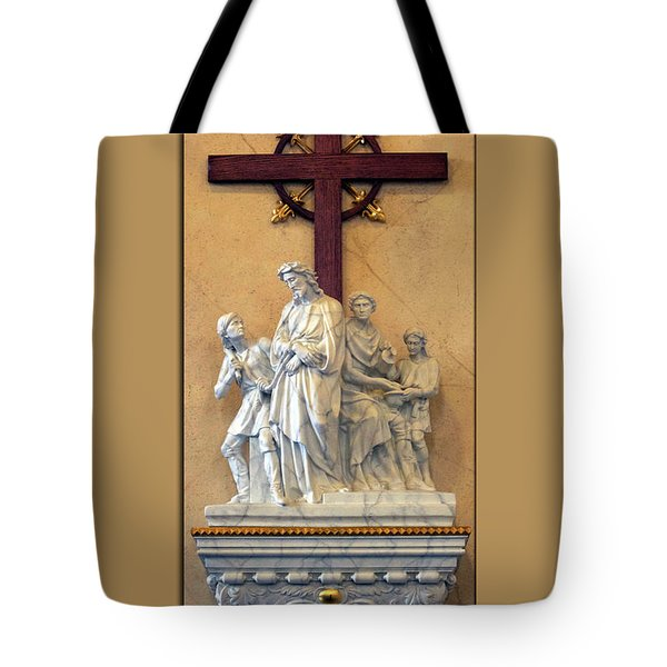 Station Of The Cross 01 Tote Bag by Thomas Woolworth