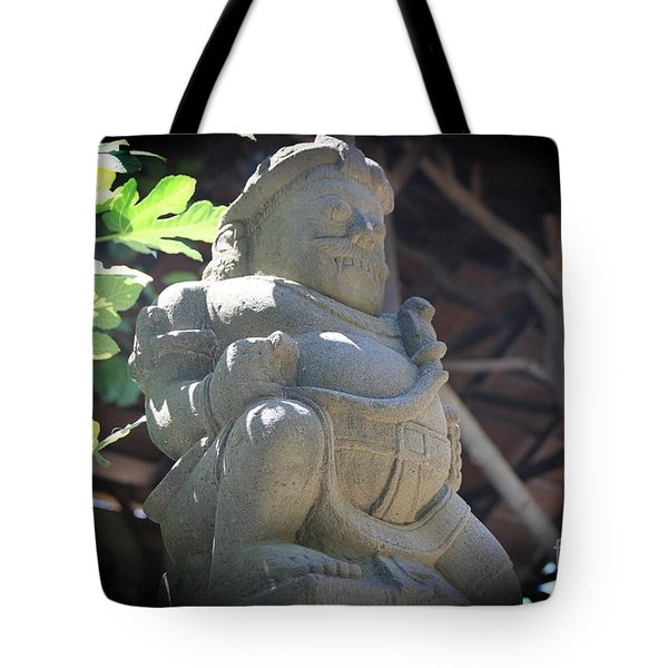 Statue In The Sun Tote Bag by Jackie Mestrom