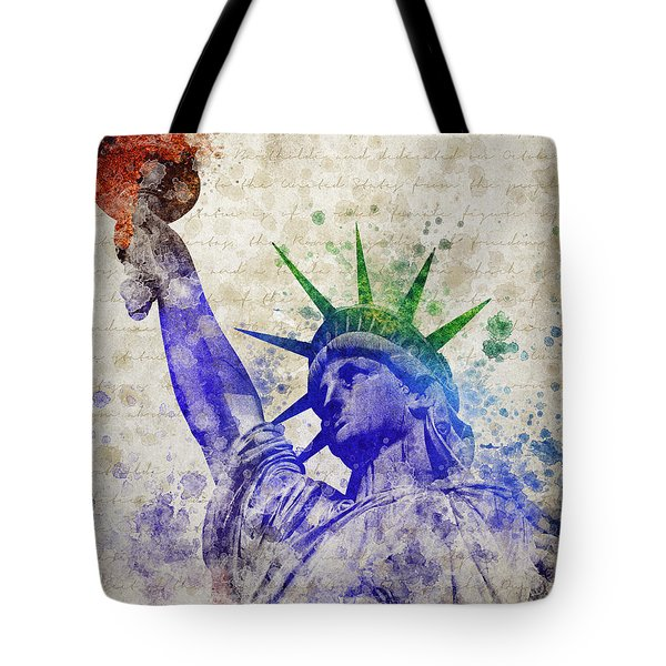 Statue Of Liberty Tote Bag by Aged Pixel