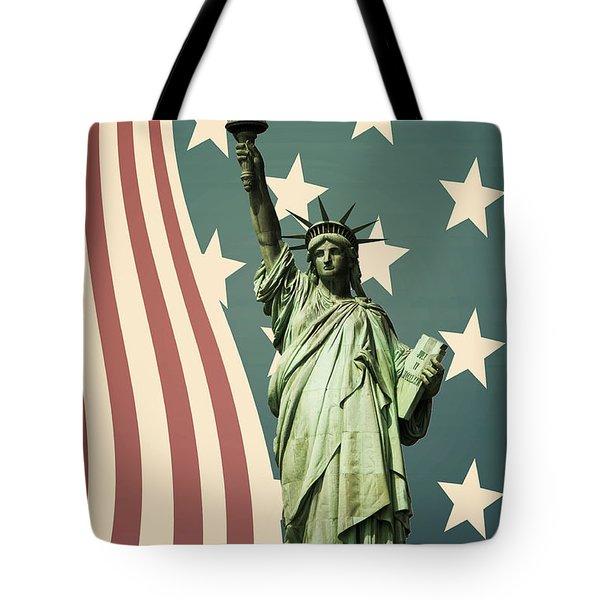 Statue Of Liberty Tote Bag by Juli Scalzi